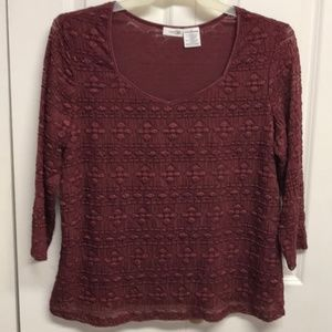 East 5th Burgundy Layered Blouses Size 1X